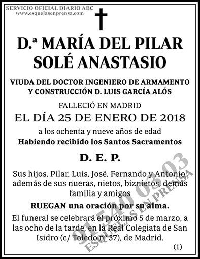 María del Pilar Solé Anastasio
